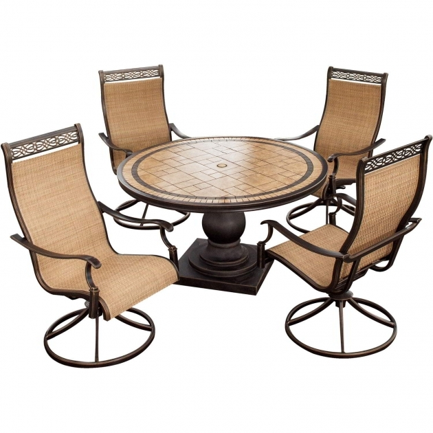 Outdoor Swivel Chairs Monaco 5 Piece Swivel Rocker Dining Set Images 72