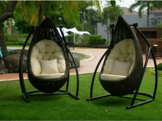 Outdoor Swivel Chairs Patio Swing Rocker Chair Image 13