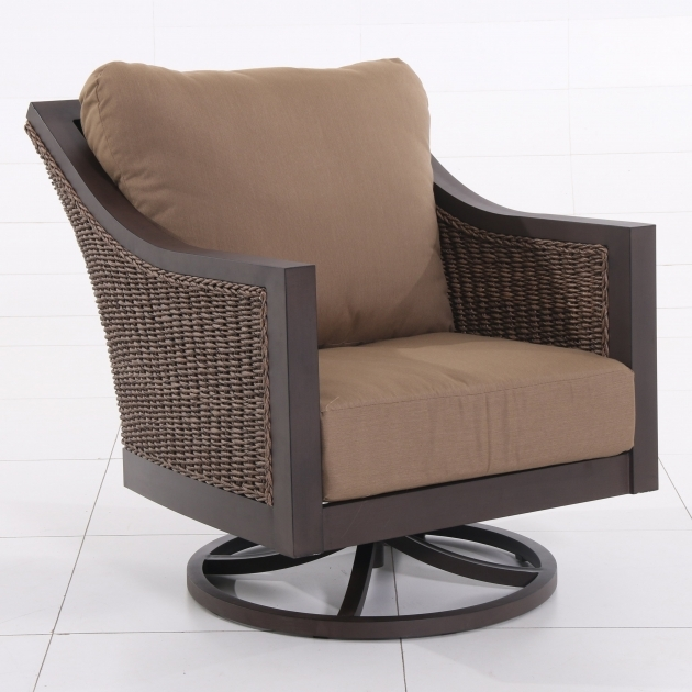 ... Outdoor Swivel Chairs Royal Garden Biscarta Aluminum And Wicker Patio  Swivel Lounge Pictures 03 ...