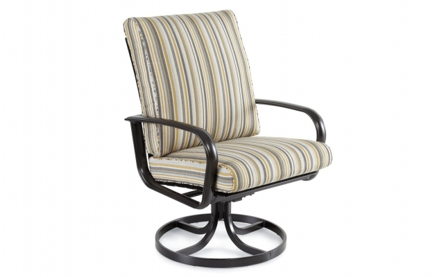 Outdoor Swivel Dining Chairs Winston Savoy Cushion Aluminum High Back Image 31
