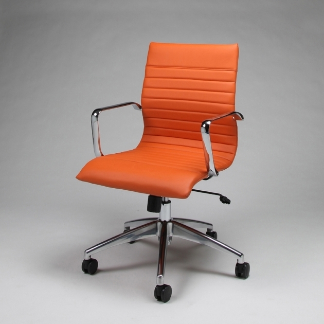 Pastel JanetteOrange Office Chair Chrome And Aluminum Picture 54