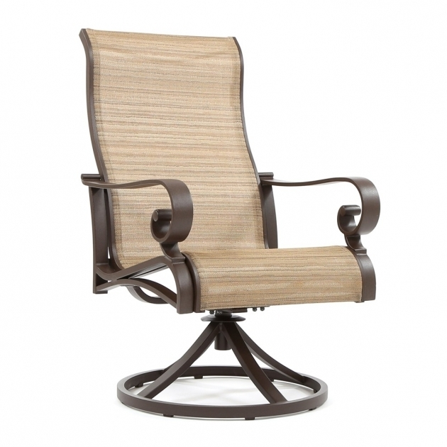 Sunvilla Riva Sling High Back Swivel Rocker Patio Chairs Pictures 05