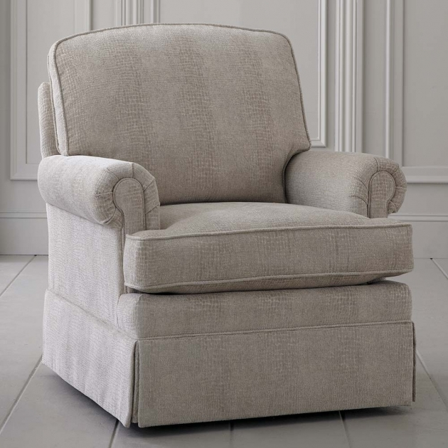 Swivel Glider Chair Traditional Upholstered Skirted Picture 08
