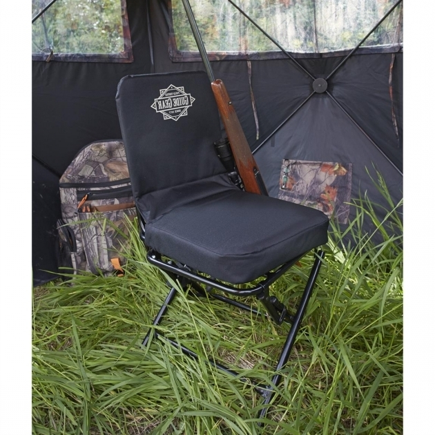 Swivel Hunting Chair With Backrest Black Image 91