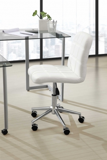 White Armless Office Chair Home Office Furniture Photos 18