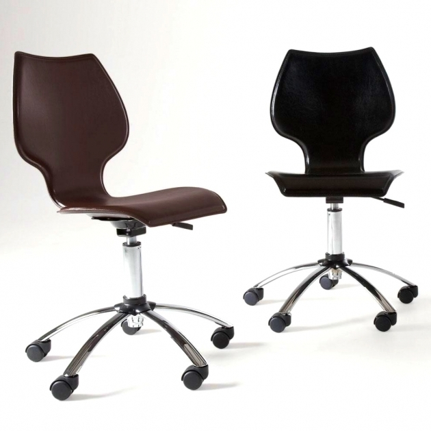 Winsome Armless Office Chairs With Wheels Construction Proper Adjustment Furniture Images 26