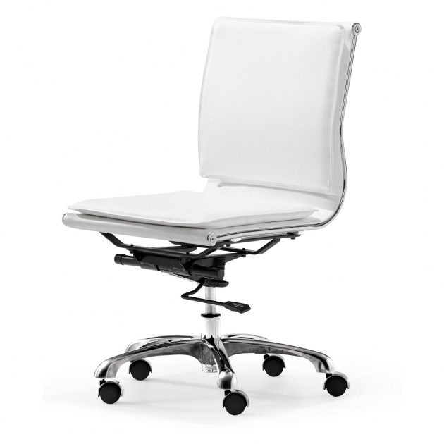 Zuo 215219 Lider Pluswhite Armless Office Chair Image 79