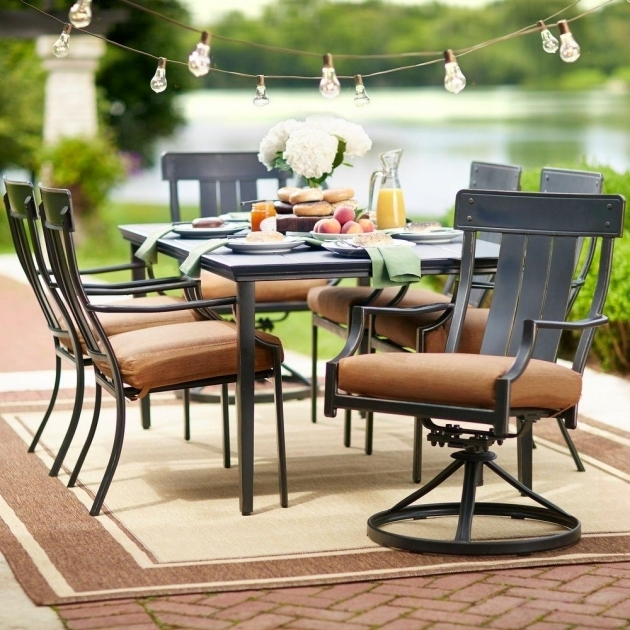 Amazing Hampton Bay Oak Heights 7 Piece Patio Dining Set With Swivel Chairs Picture 62