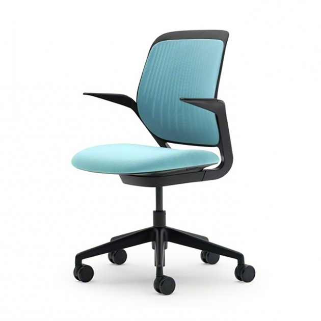 Aqua Office Chair Cobi Desk Chair With Black Frame Pictures 19