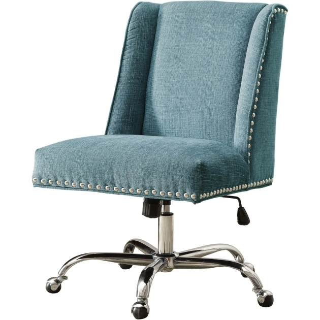 Aqua Office Chair Linon Draper With Metal Base Photo 52