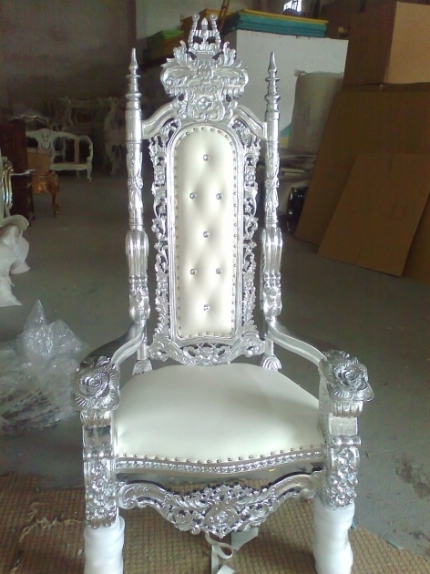 Baroque High Backed Throne Chair Queen Images 08