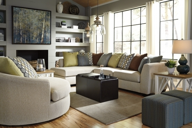 Casheral Linen Oversized Swivel Accent Chair Pictures 82