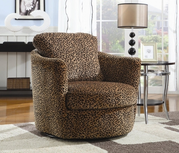 Chocolate Swivel Accent Chair With Arms Chocolate Oversized Leopard Lion Pattern Coaster Furniture Image 89