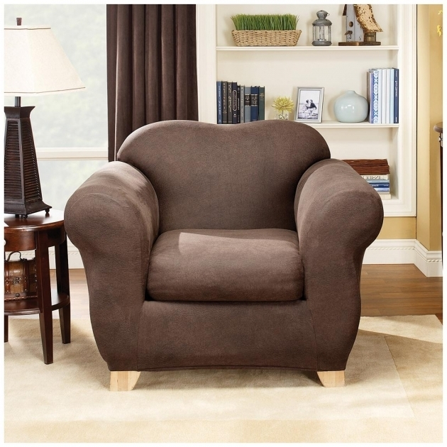Superb ... Club Chair Slipcovers Sure Fit Stretch Leather 2 Pc Pictures 97 ...