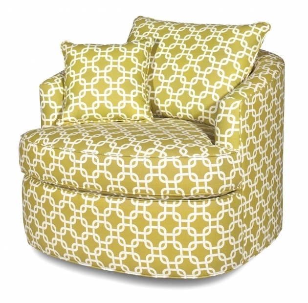 Contemporary Swivel Chair With Loose Pillow Back Craftmaster Photos 91