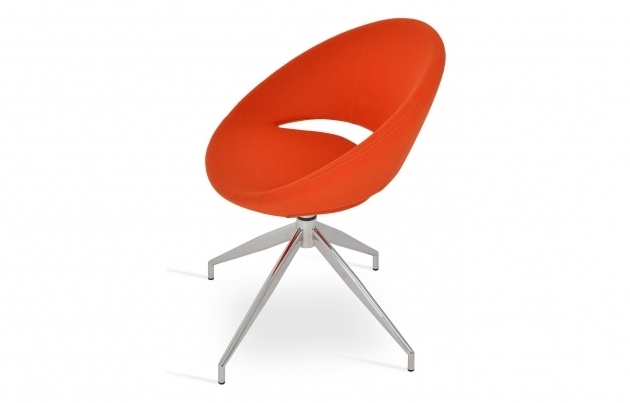 Crescent Spider Orange Swivel Chair Picture 33
