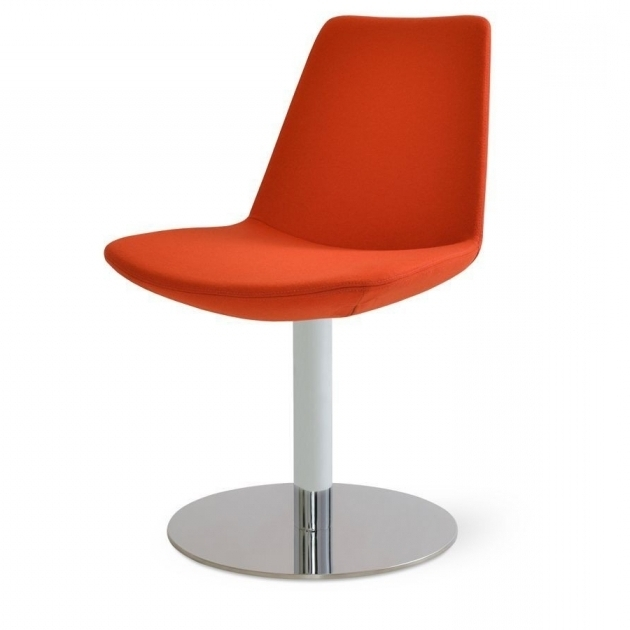 Eiffel Round Orange Swivel Chair Modern Ideas  Images 94