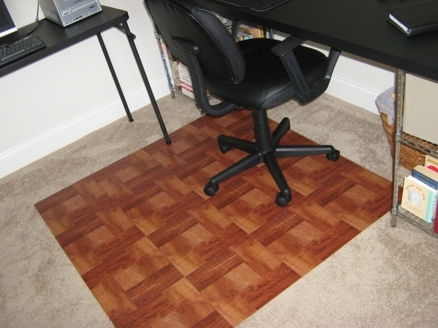 Fake It Frugal Diy Office Chair Mat For Wood Floors Images 58