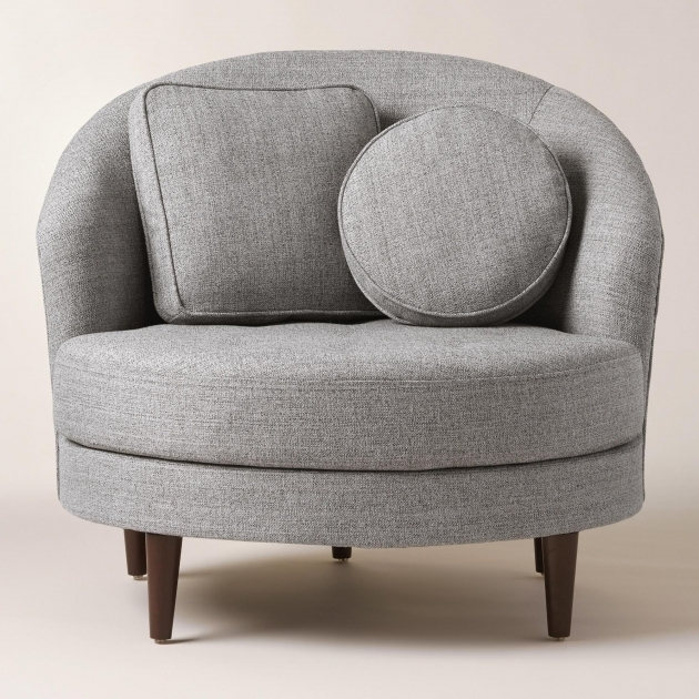 Gray Round Seren Swivel Club Chairs Upholstered And A Half Rubberwood Feet With Dark Espresso Photos 96