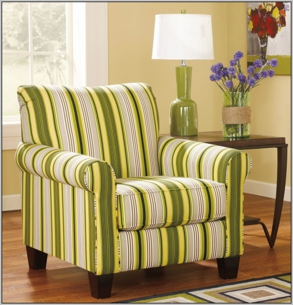 Green Swivel Accent Chair With Arms Striped Images 83