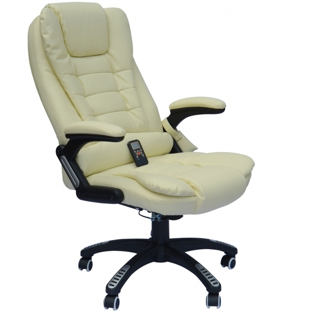 HomCom Executive Ergonomic Office Chairs For Fat Guys PU Leather Heated Vibrating Massage Office Chair Images 67