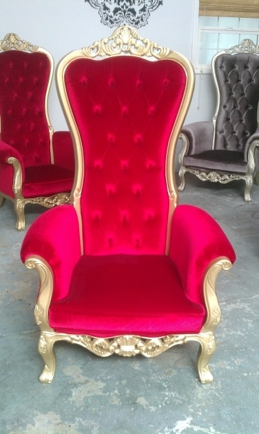 Kings Chairs High Backed Throne Chair And Ornate Furniture Red And Gold Design Images 59