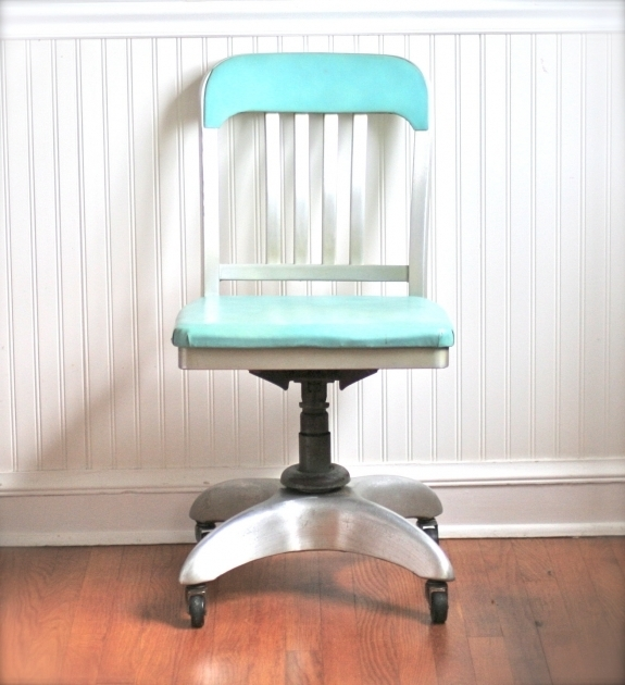 Mid Century Aqua Office Chair General Fireproofing Picture 87
