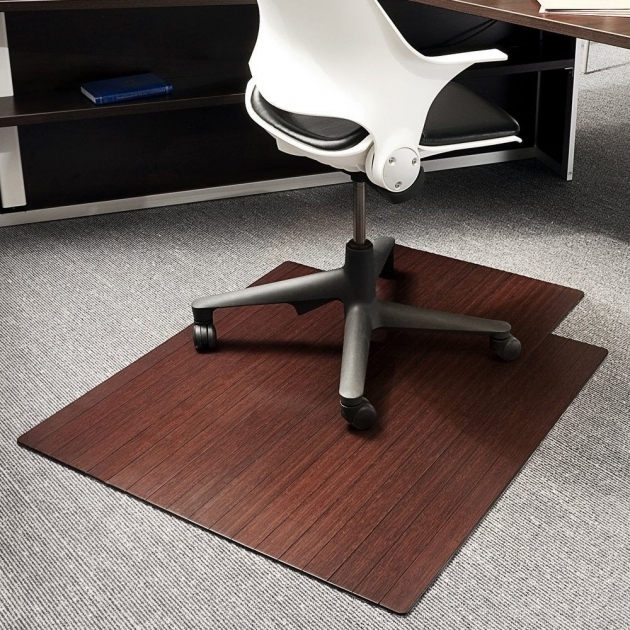 Rectangle Cream Fiber Large Office Chair Mat For Wood