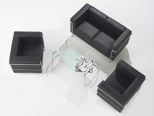 Office Reception Chairs Black Leather Single And 2 Seater With Rectangle Glass Top Coffee Table Photos 63
