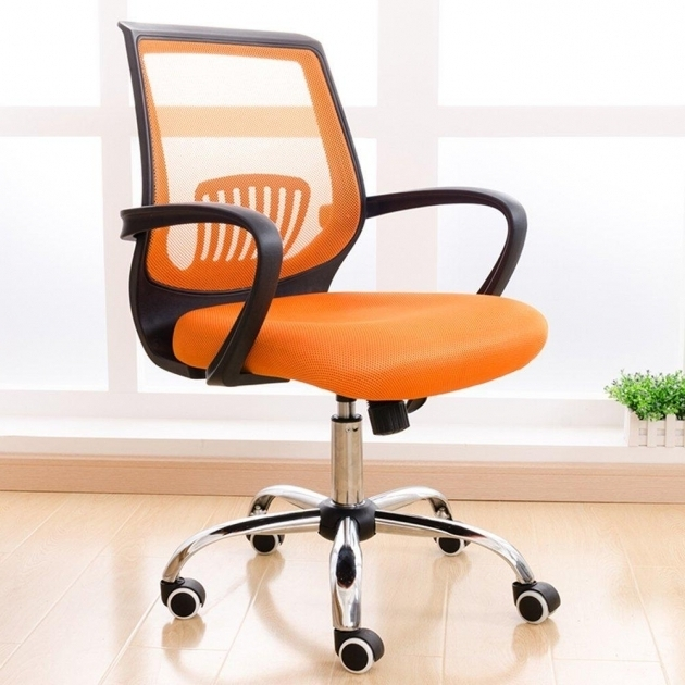 Orange Swivel Chair For Office Lot Conference Chairs With Stainless Steel Wheel Images 52