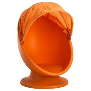 Orange Swivel Chair