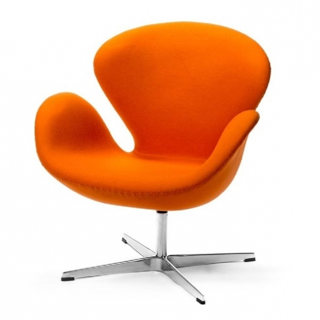 Orange Swivel Chair Living Room  Picture 62