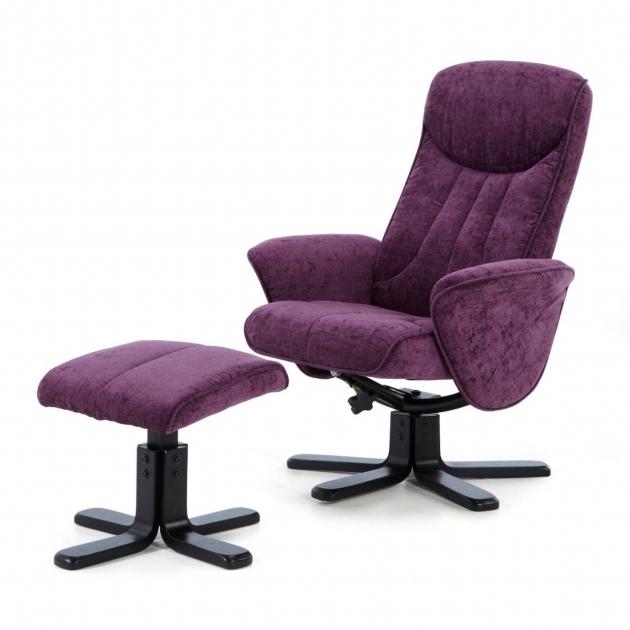 Purple Swivel Recliner Chair Serene Stavern Amethyst Fabric Photo 99