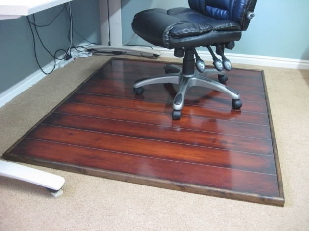Red Cherry Wooden Office Chair Mat For Wood Floors Under Black Leather Wheeled Chair Facing Small Picture 95