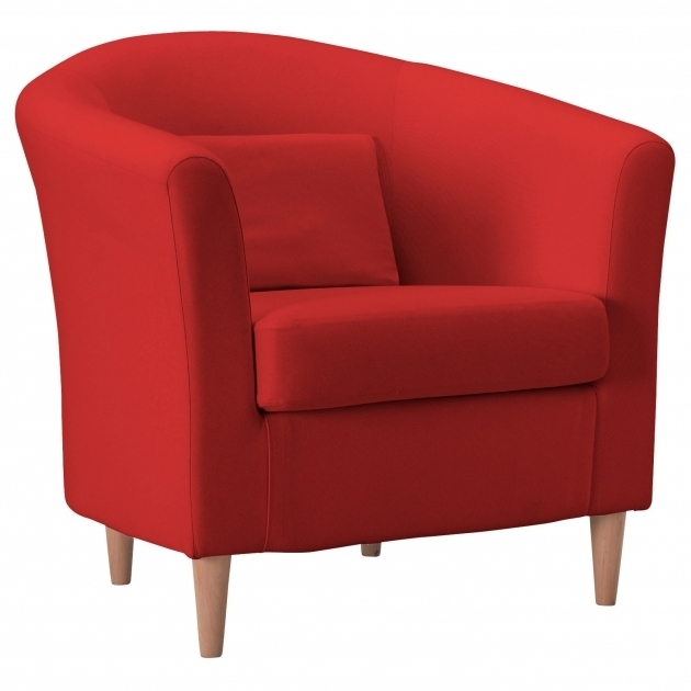 Red Swivel Accent Chair With Arms Living Room Leather