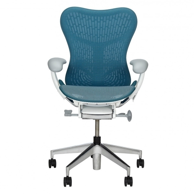 Stylish Herman Miller Office Chairs Blue Seat And Bck White Vinyl Padded Arm Steel Frame Material Chrome Pictures 63