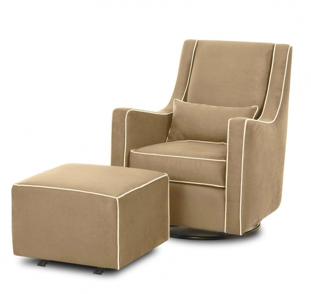 Swivel Recliner Chair With Ottoman Design In Taupe Option Color For Traditional And Contemporary Living Room Pictures 17