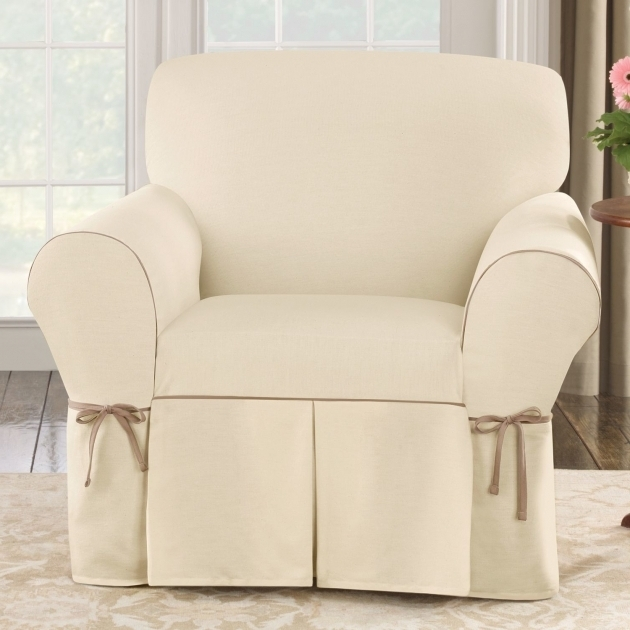 White Club Chair Slipcovers With Decorative Ribbons Images 77