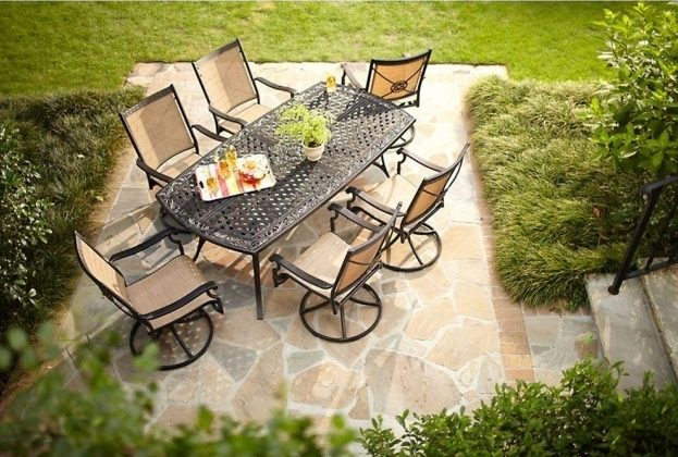 Wonderful 7 Piece Patio Dining Set With Swivel Chairs Martha Stewart Living Solana Bay Image 89