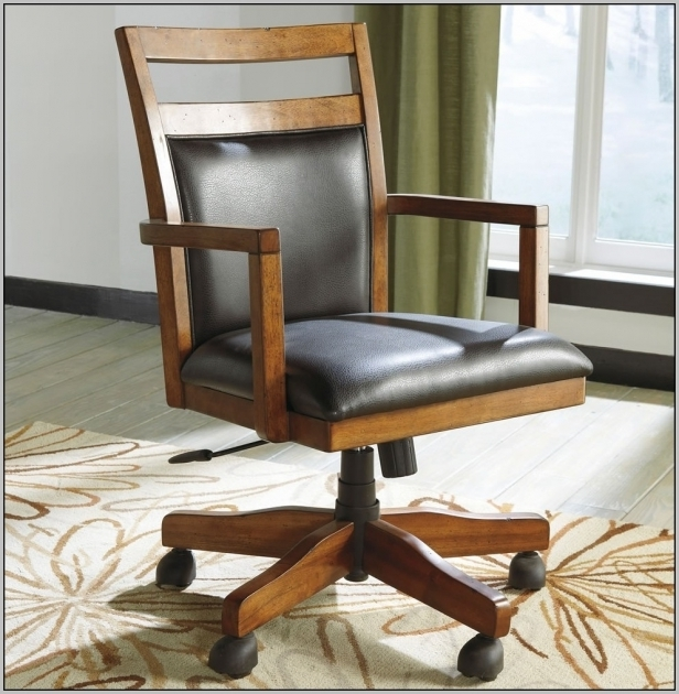 Wood Desk Chair Small Office Chairs On Wheels Picture 46