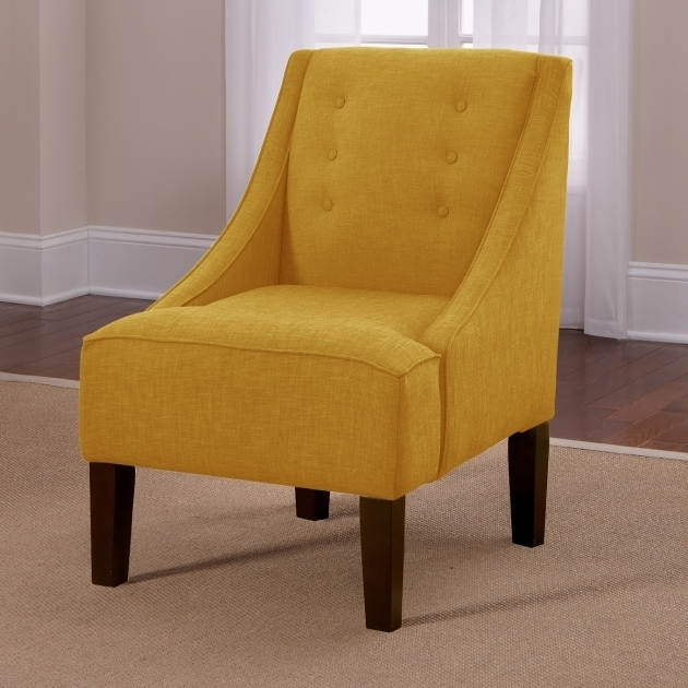 Yellow Swivel Accent Chair With Arms Living Room Furniture