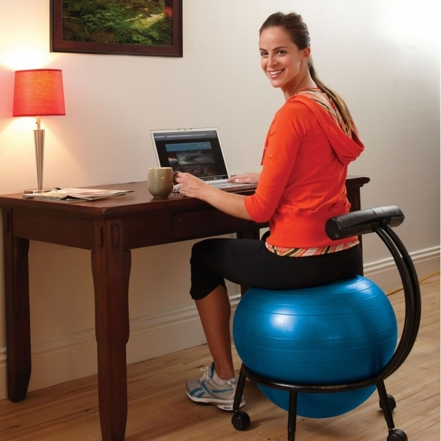 a new way of active sitting with the gaiam balance ball chair picture 36