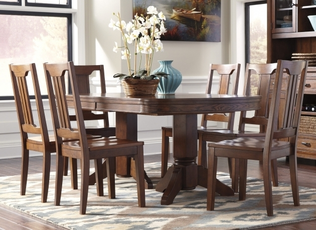 ashley furniture kitchen table and chairs chimerin oval dining room extension table set images 56