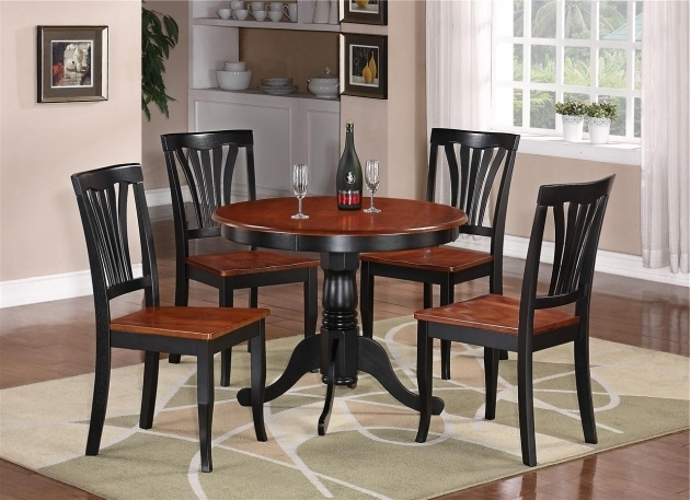 Ashley Furniture Kitchen Table And Chairs Round Table Dinette Kitchen Table And Two Chairs Black Image 91