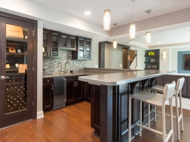 Basement Bar Ideas With High Chairs For Kitchen Island And Wine Cellar Images 76