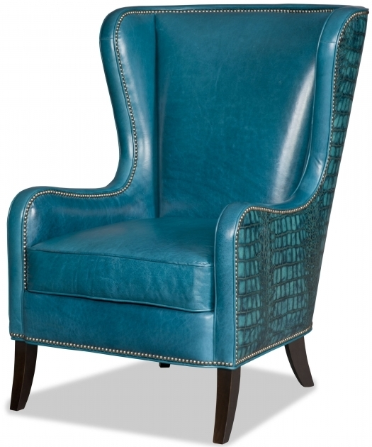 Bradingto Young Furniture Teal Blue Leather Club Chair Photo 88