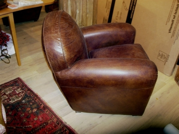Distressed Leather Club Chair 1 Pair Of English Deco Style Photos 36