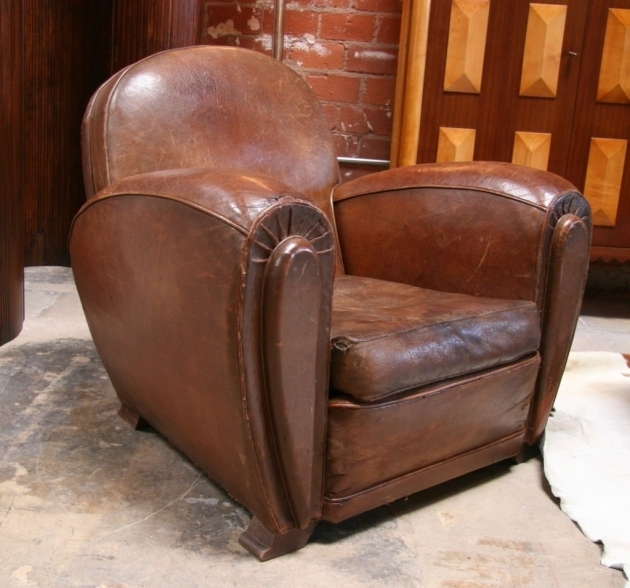 Distressed Leather Club Chair Furniture Picture 90