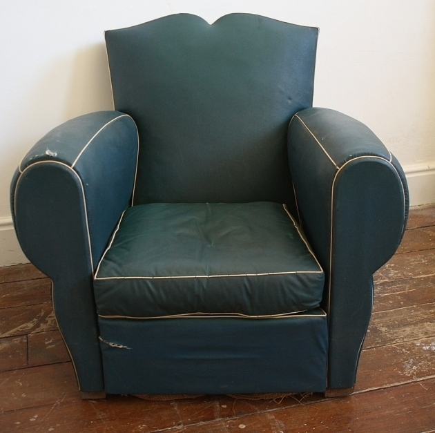 French Blue Leather Club Chair Moustache Chairs Photos 66