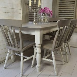 Gray Kitchen Table and Chairs
